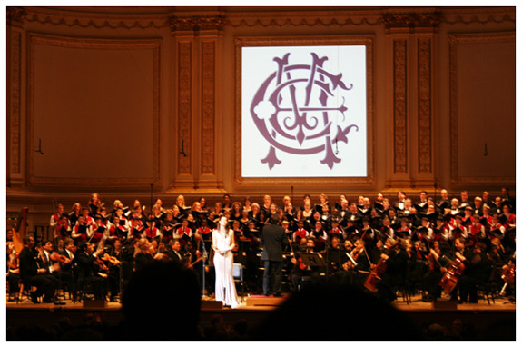 Ecce Cor Meum at Carnegie Hall