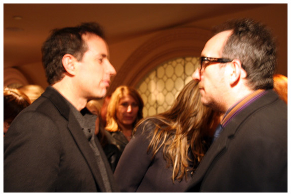 Jerry Seinfeld and Elvis Costello at Carnegie Hall