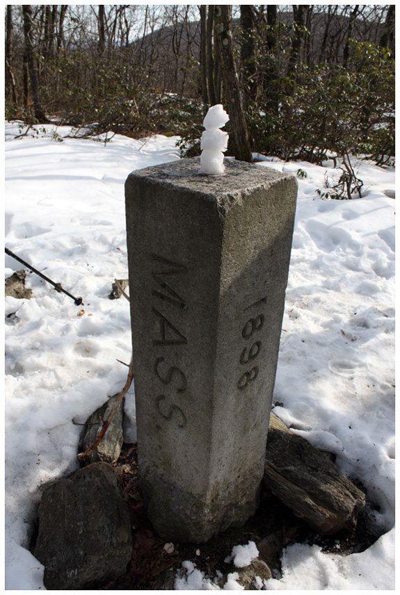 Tri State Marker- NY, MA, CT - Mt. Frissell